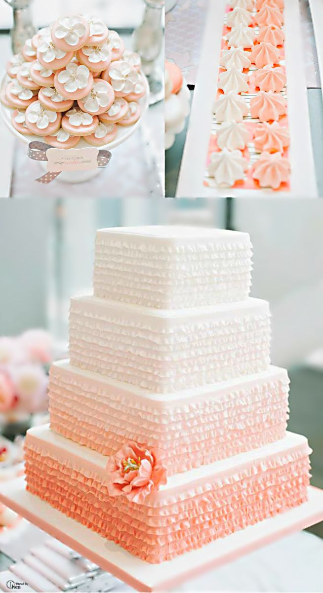 Coral Wedding Cakes  26 Oh So Pretty Ombre Wedding Cake Ideas