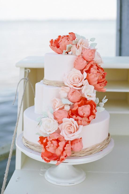 Coral Wedding Cakes  Ask Cynthia  Wedding Inspirations