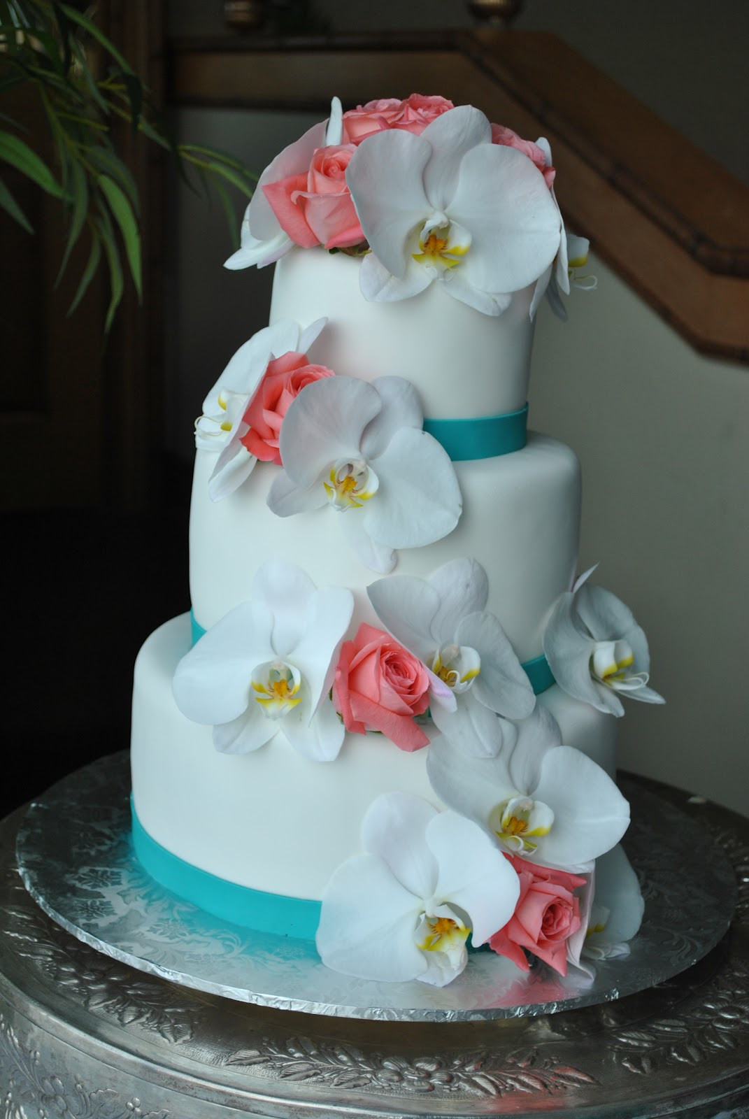 Coral Wedding Cakes  The Cake Zone