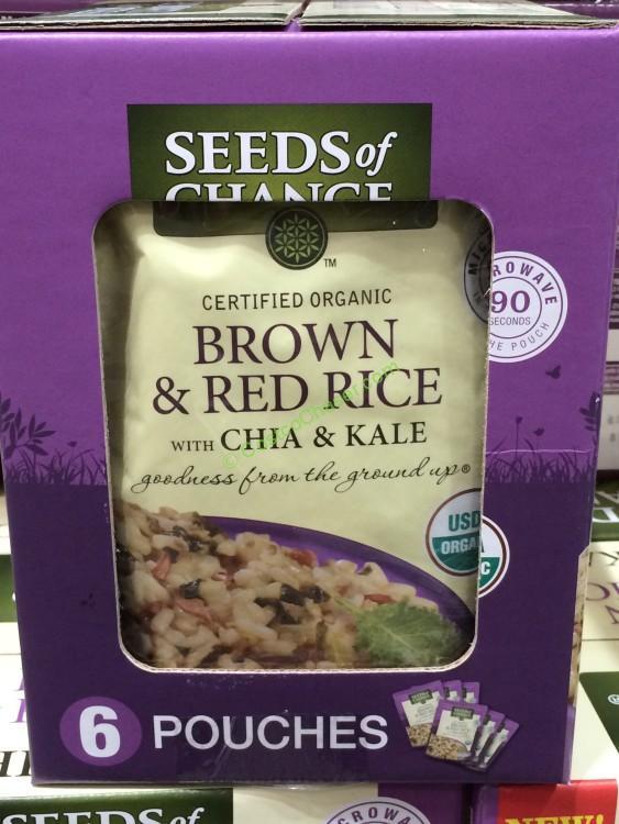 Costco Organic Brown Rice  Seeds of Change Organic Brown Rice with Chia & Kale 6 8 5