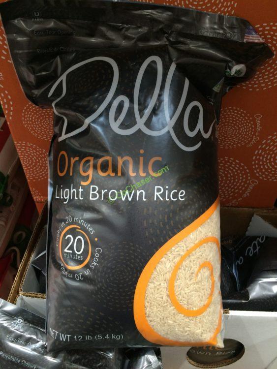 Costco Organic Brown Rice  Della Organic Brown Rice 12 Pound Bag – CostcoChaser