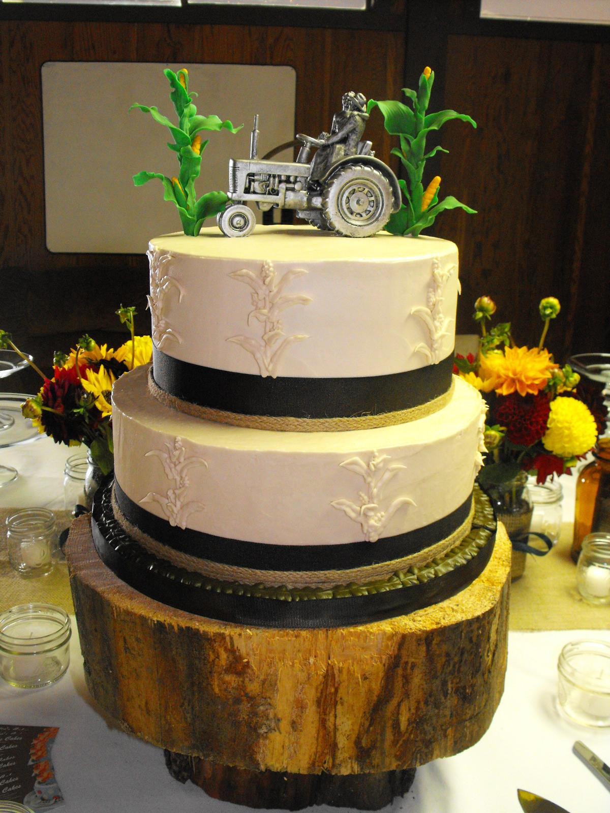 Country Style Wedding Cakes  Fall Country Style Wedding Cake Natalia s Cakes