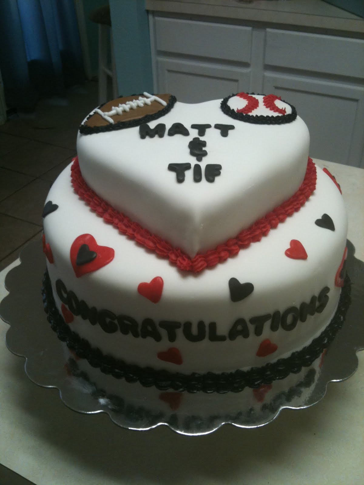Couples Wedding Shower Cakes  Cakes by Joanna Couples Wedding Shower Sports Theme