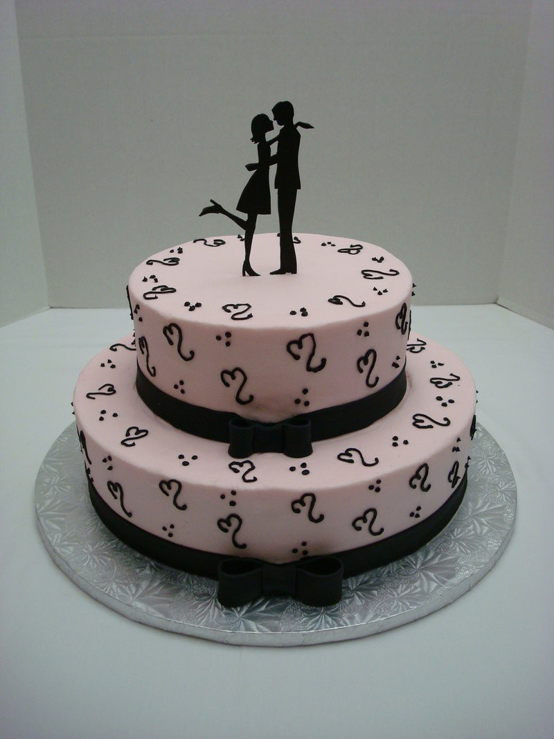 Couples Wedding Shower Cakes  Silhouette Bridal Shower Cake by mel312 on DeviantArt
