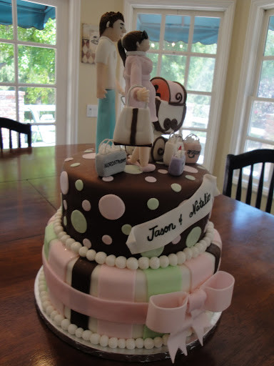 Couples Wedding Shower Cakes  Couple Baby Shower Cake