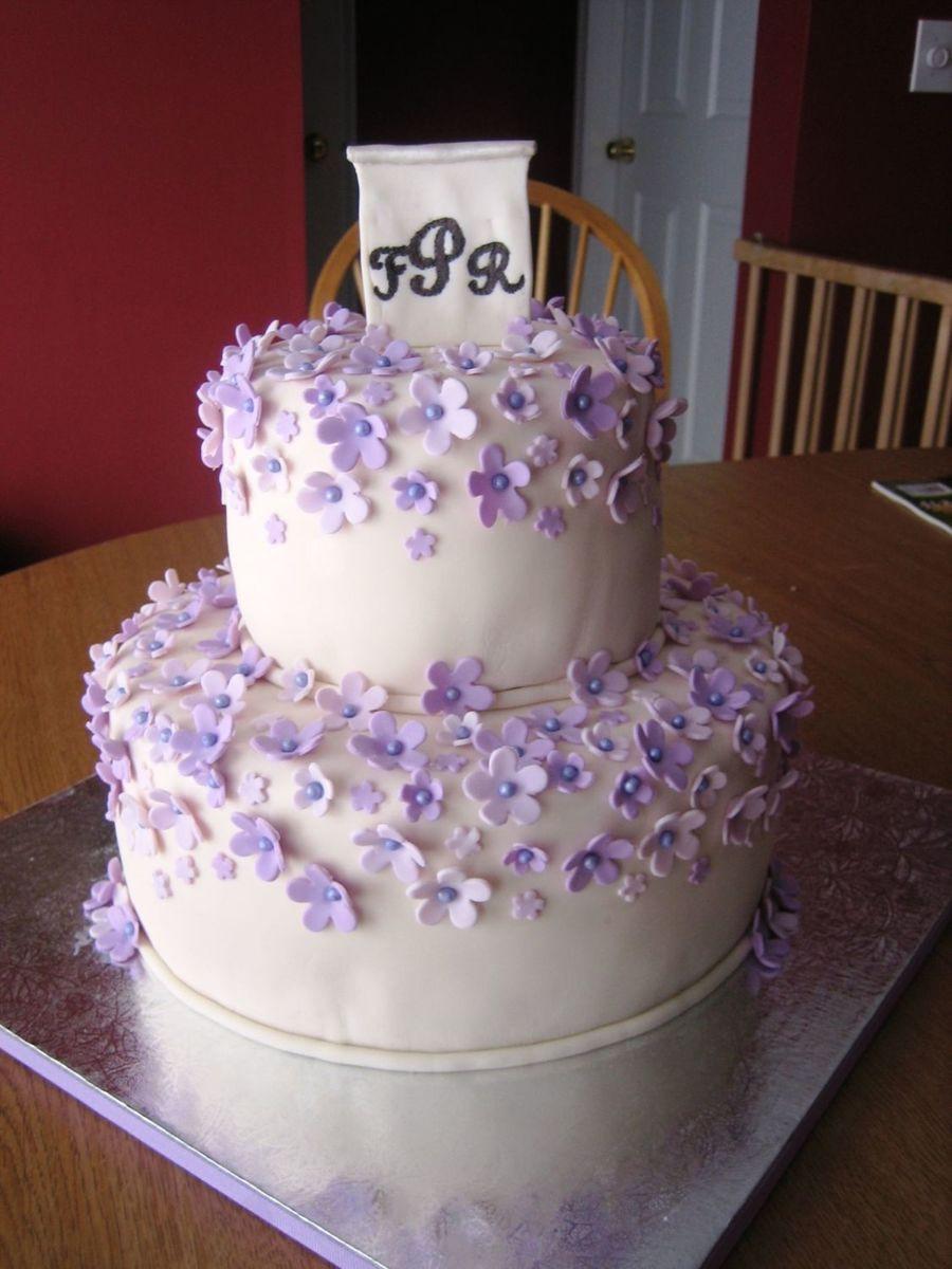 Couples Wedding Shower Cakes  Hydrangea Petals Cake Couples Bridal Shower