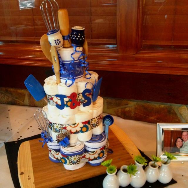 """Couples Wedding Shower Cakes  Kitchen """"Cake"""" I made for Cousin s couples wedding shower"""