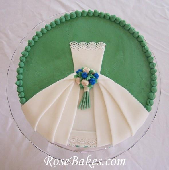 Couples Wedding Shower Cakes  Wedding Dress Bridal Shower Cake