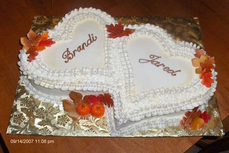 Couples Wedding Shower Cakes  fall bridal shower cake Google Search