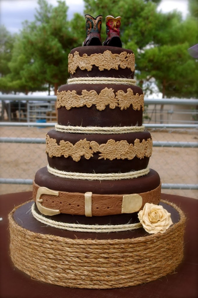 Cowboy Wedding Cakes  Memorable Wedding Easy Country Western Wedding Theme Ideas