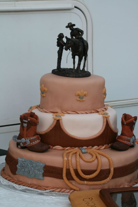 Cowboy Wedding Cakes  Western Cowboy Style Cakes Inspiration Project Wedding