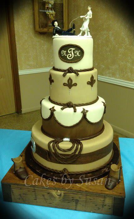 Cowboy Wedding Cakes  Western wedding cake Cake by Susan maestas CakesDecor