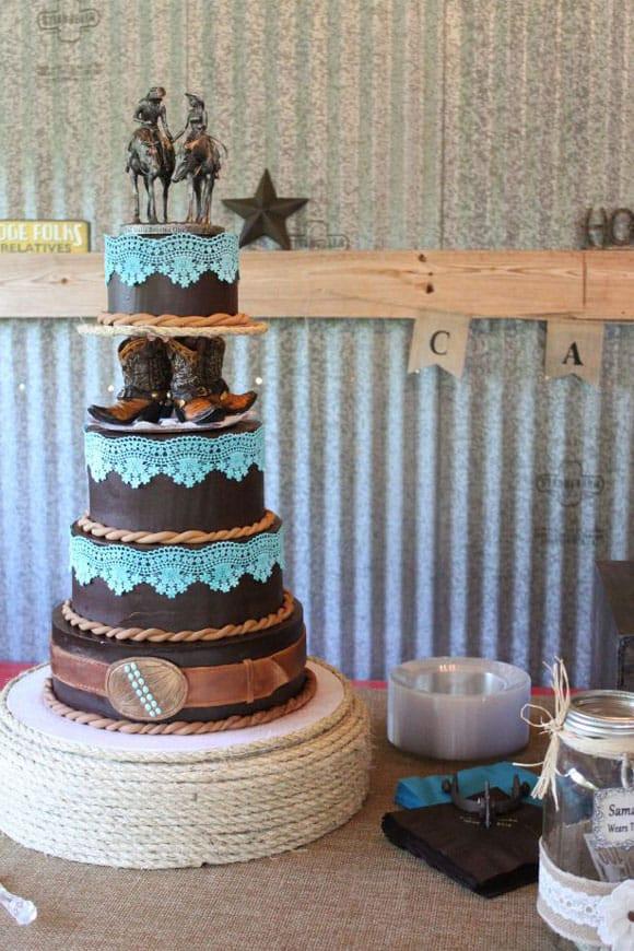 Cowboy Wedding Cakes  Western Wedding Cakes Cowgirl Magazine