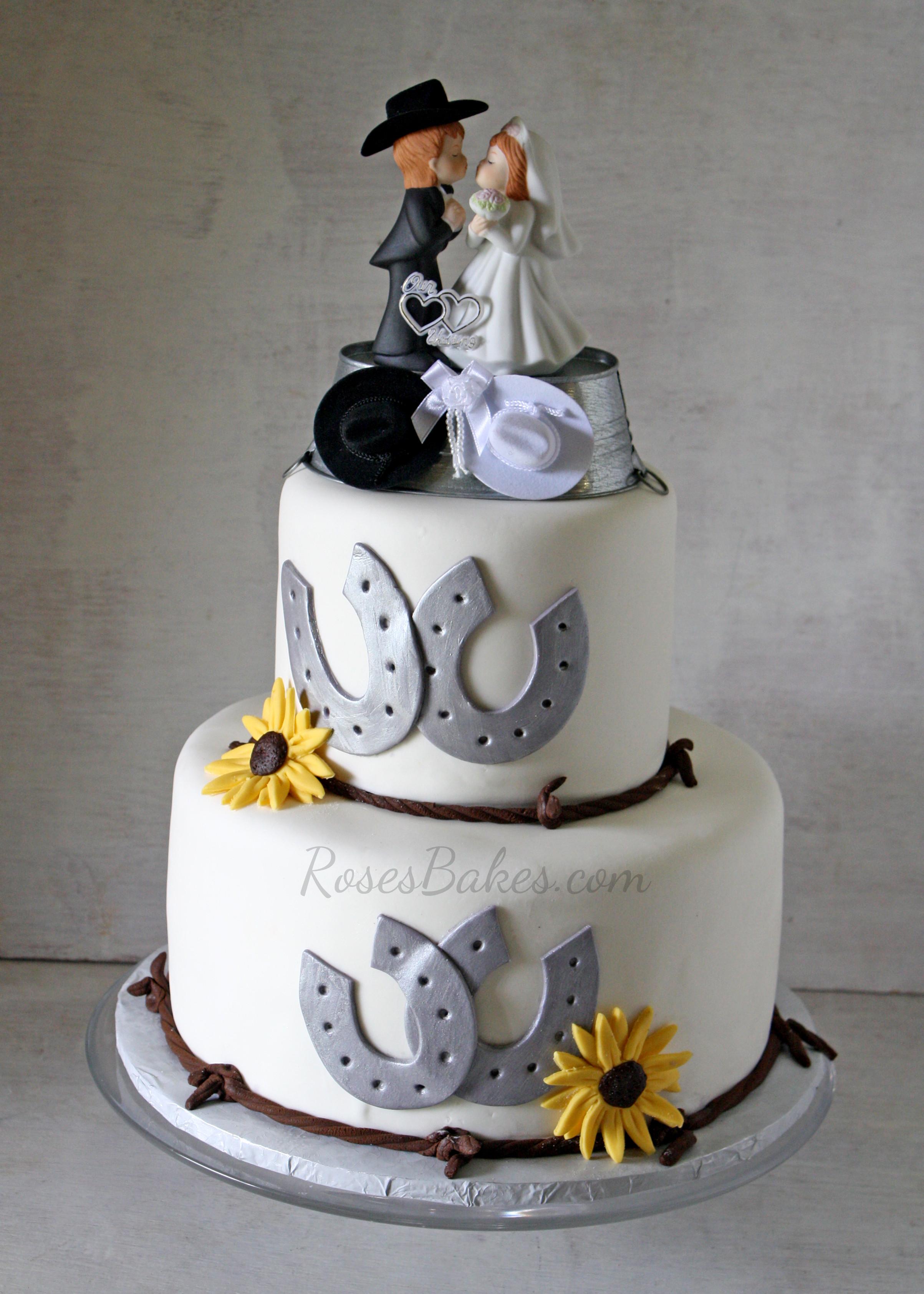 Cowboy Wedding Cakes  Western Wedding Cake Rose Bakes