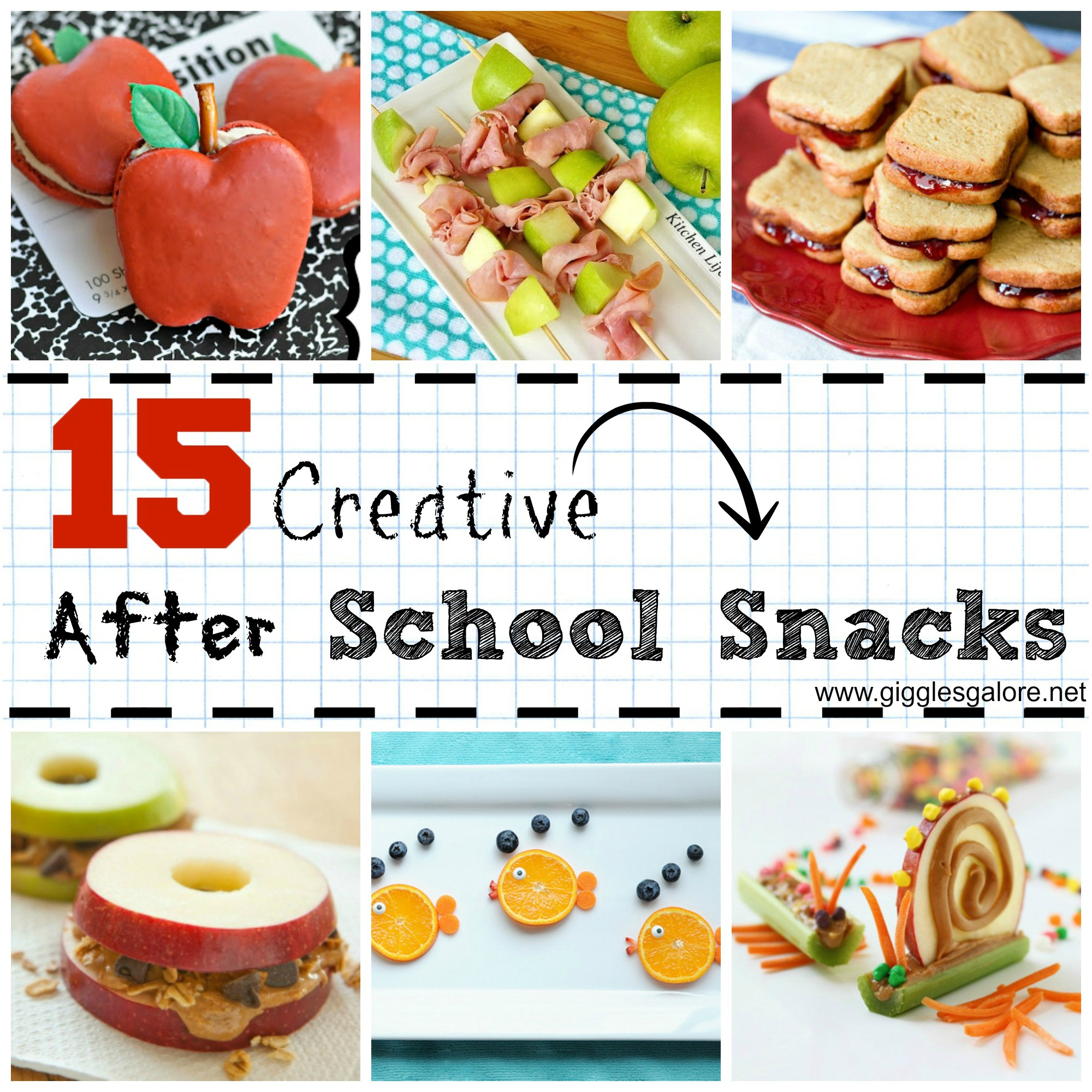 Creative Healthy Snacks  15 Creative After School Snacks Giggles Galore