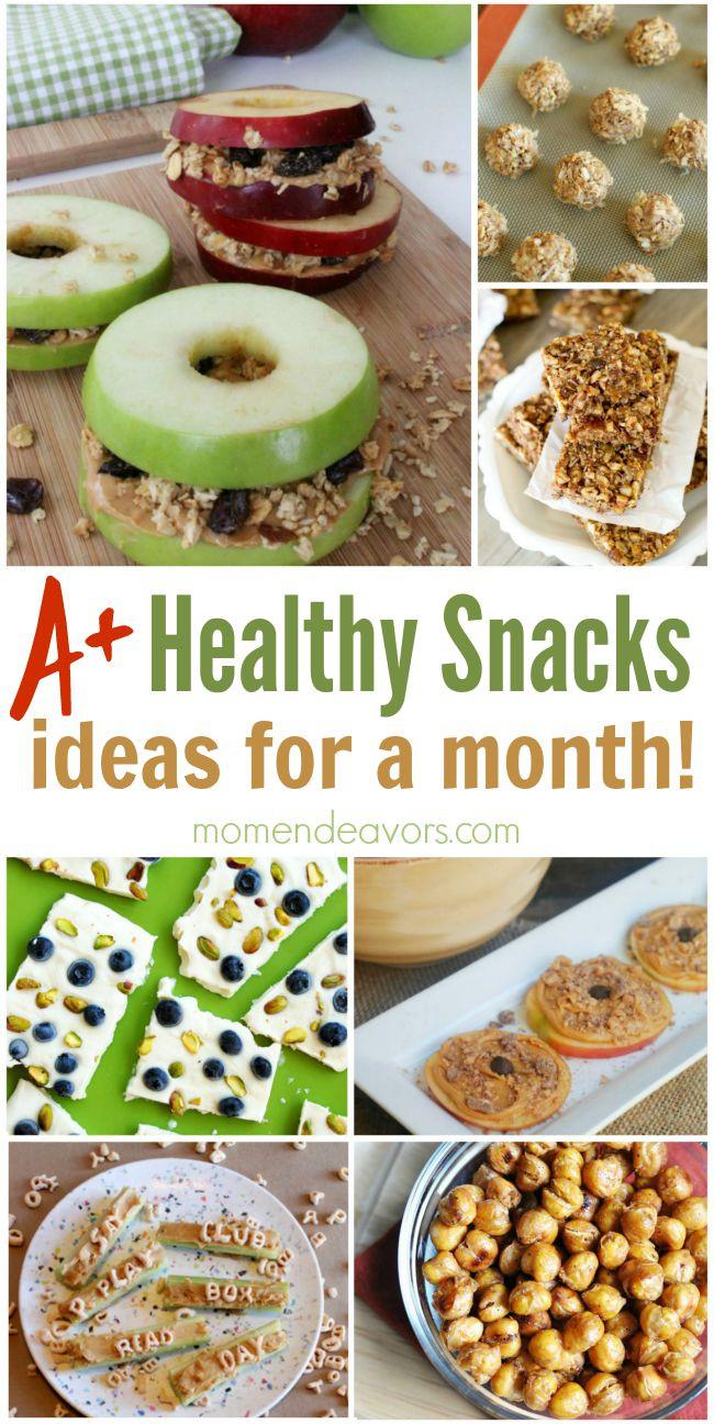 Creative Healthy Snacks  A Month of Healthy Snack Ideas – Easy & Creative Ideas
