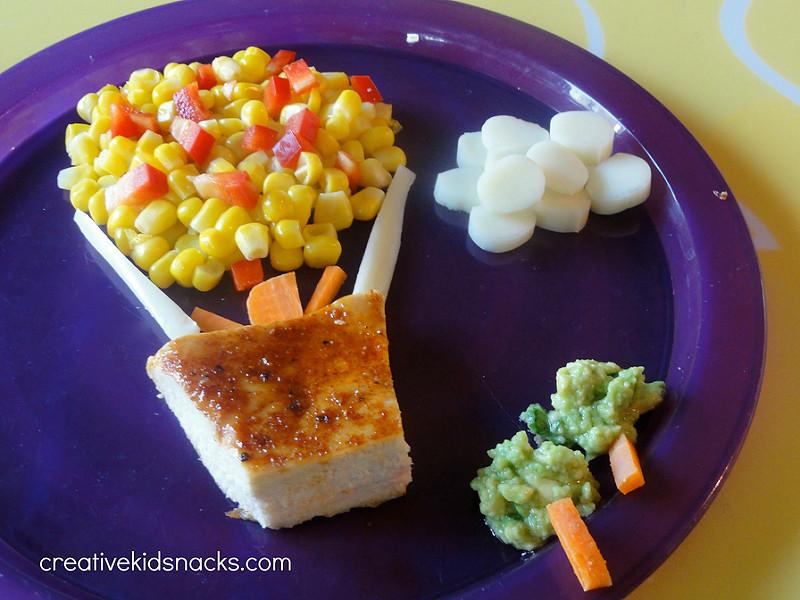 Creative Healthy Snacks  Healthy and Creative Kids Dinner Hot Air Balloon Ride