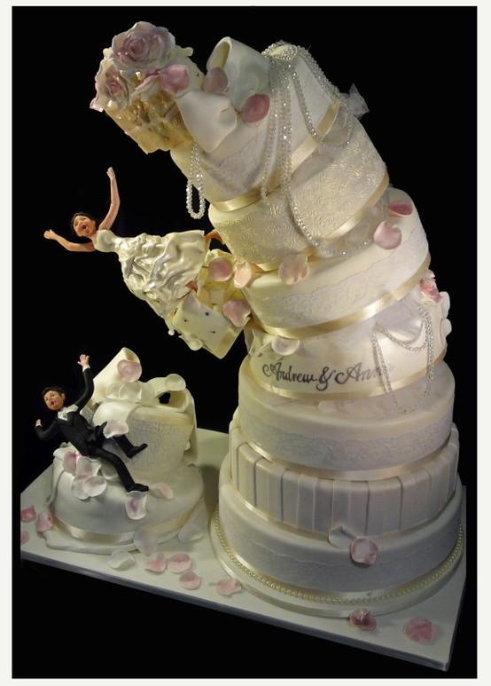 Creative Wedding Cakes  Forever Sweethearts Amazing Cake