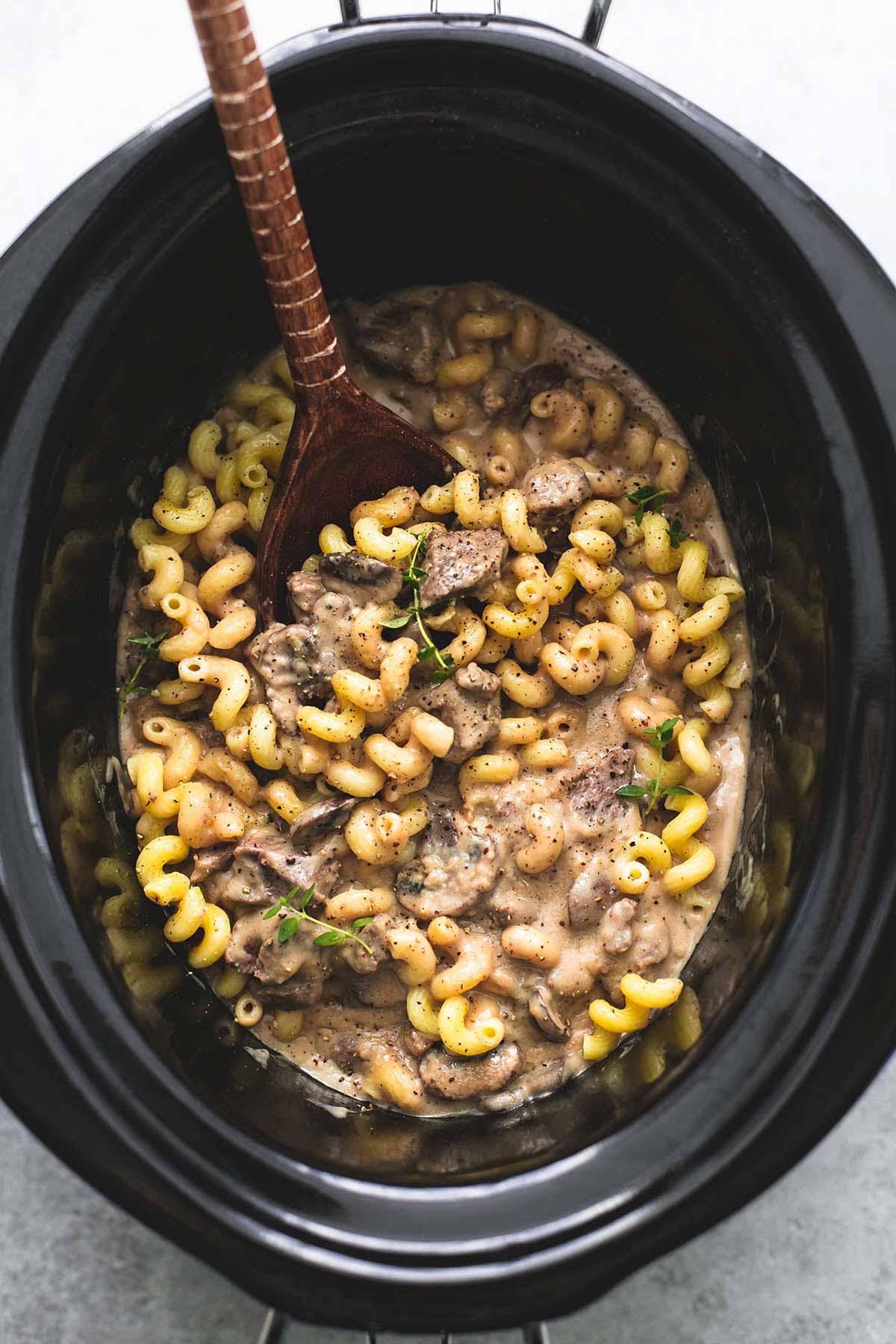 Crock Pot Beef Stroganoff Healthy  Slow Cooker Creamy Beef Stroganoff