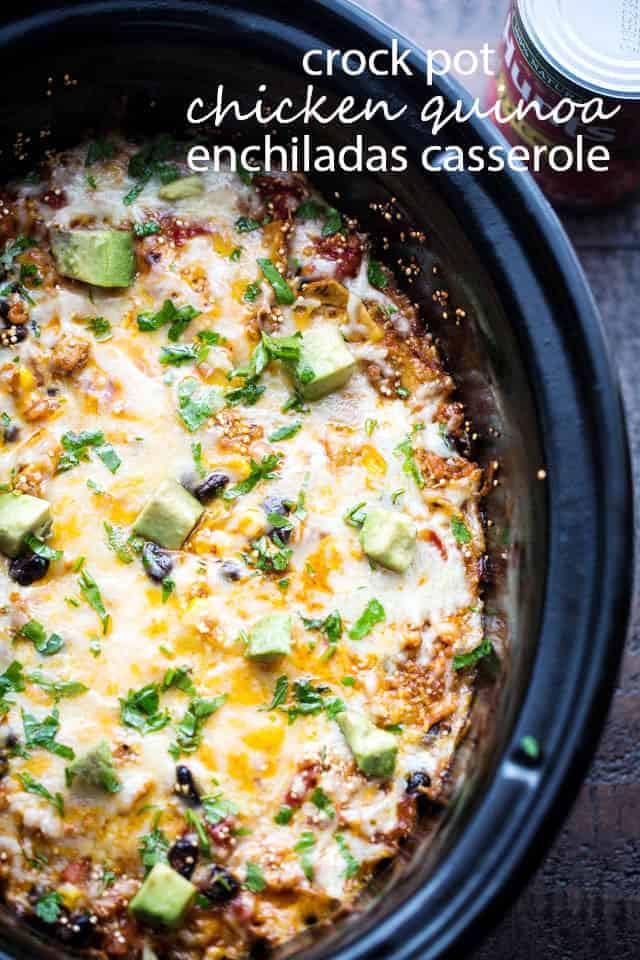 Crockpot Chicken Enchiladas Healthy  Crock Pot Chicken Enchiladas