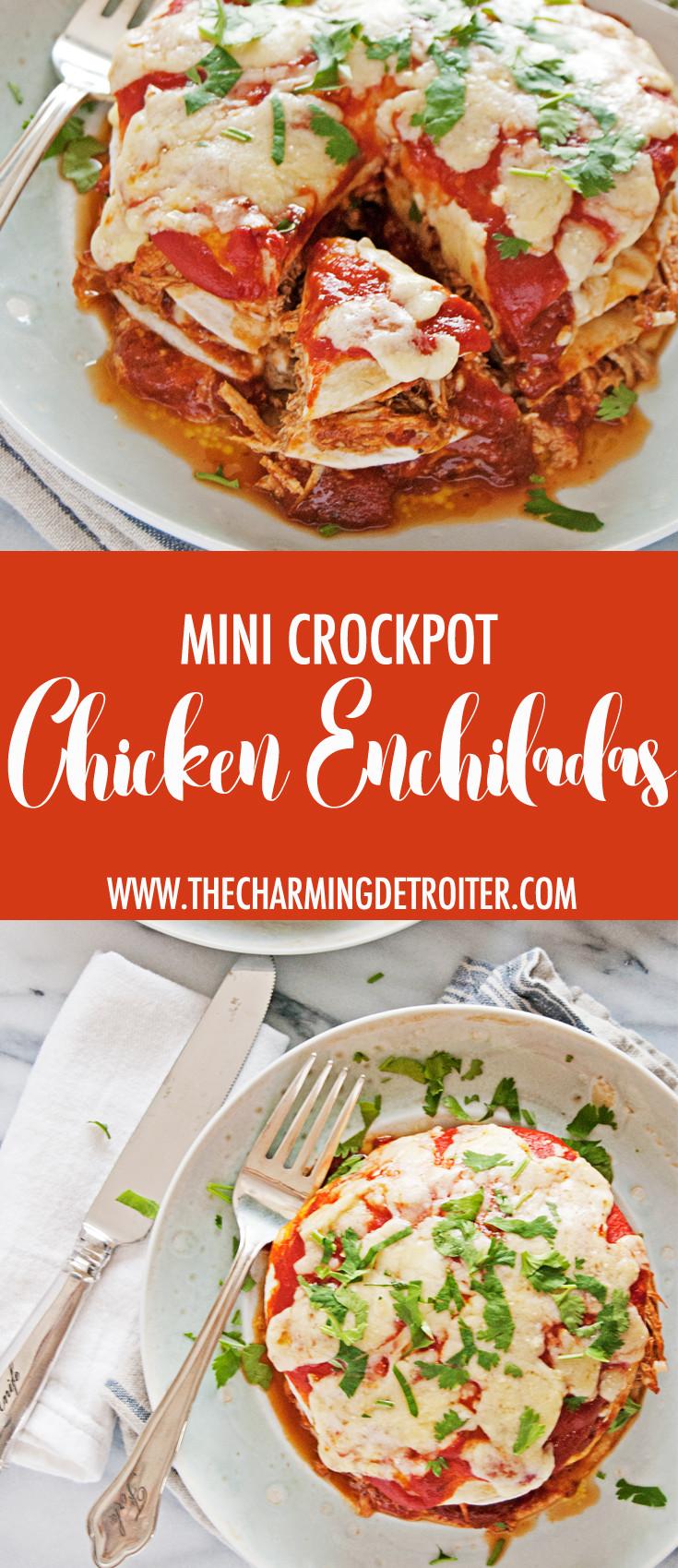 Crockpot Chicken Enchiladas Healthy  slow cooker shredded chicken for enchiladas