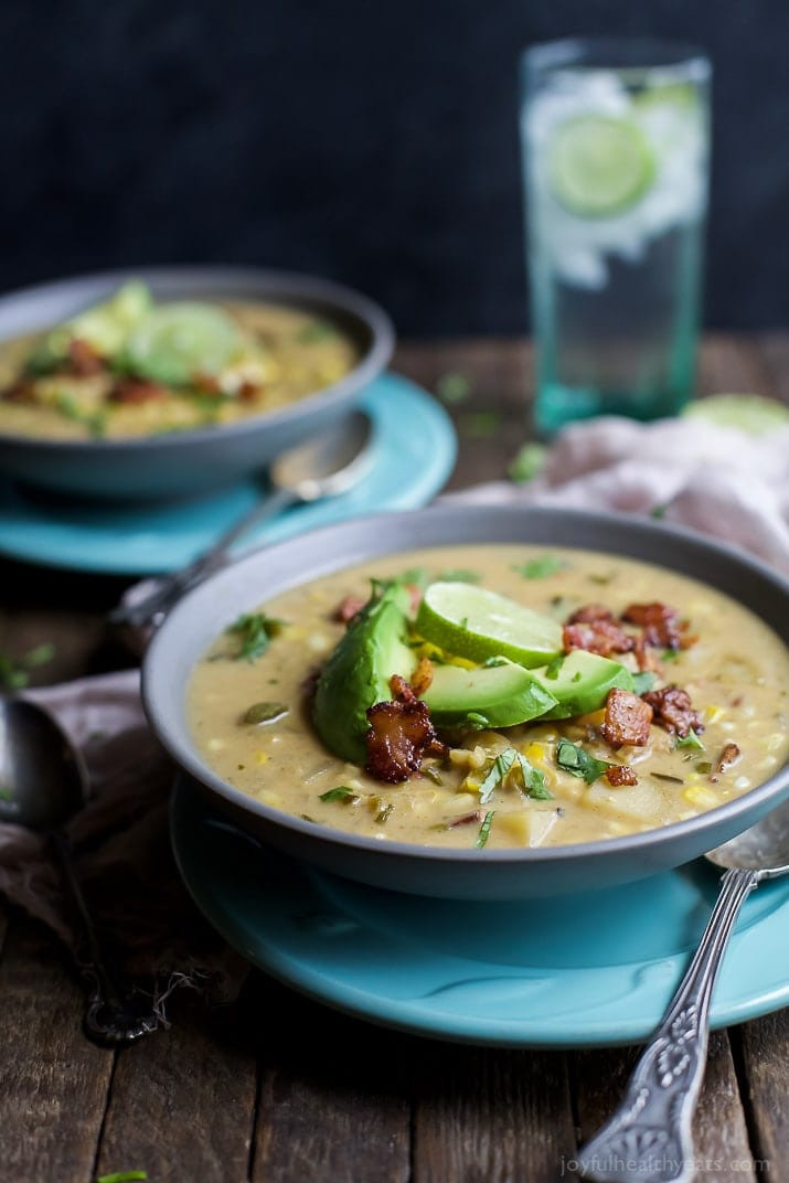 Crockpot Potato Soup Healthy  Crock Pot Potato Corn Chowder with Roasted Poblanos