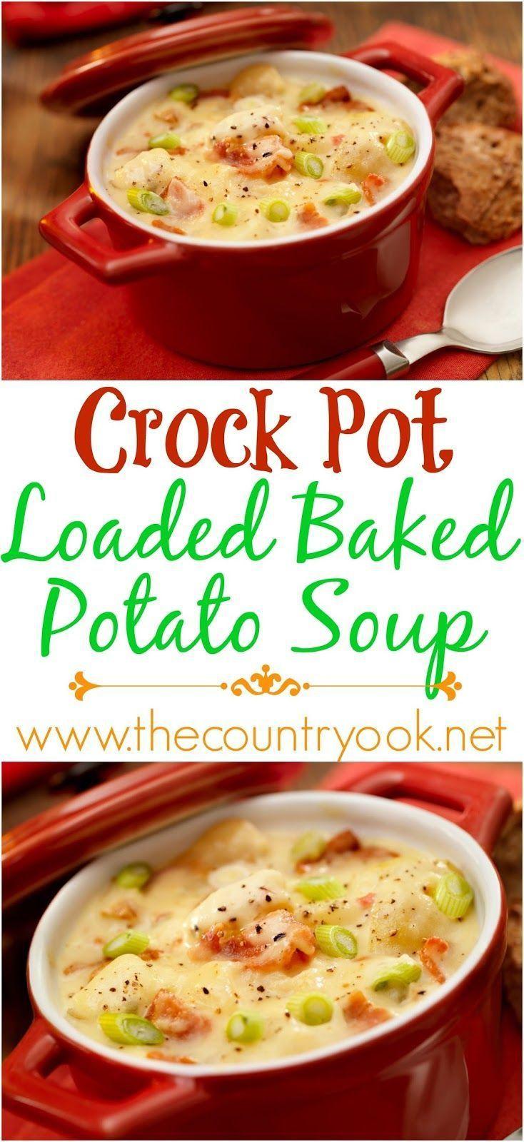 Crockpot Potato Soup Healthy  311 best fort Food images on Pinterest