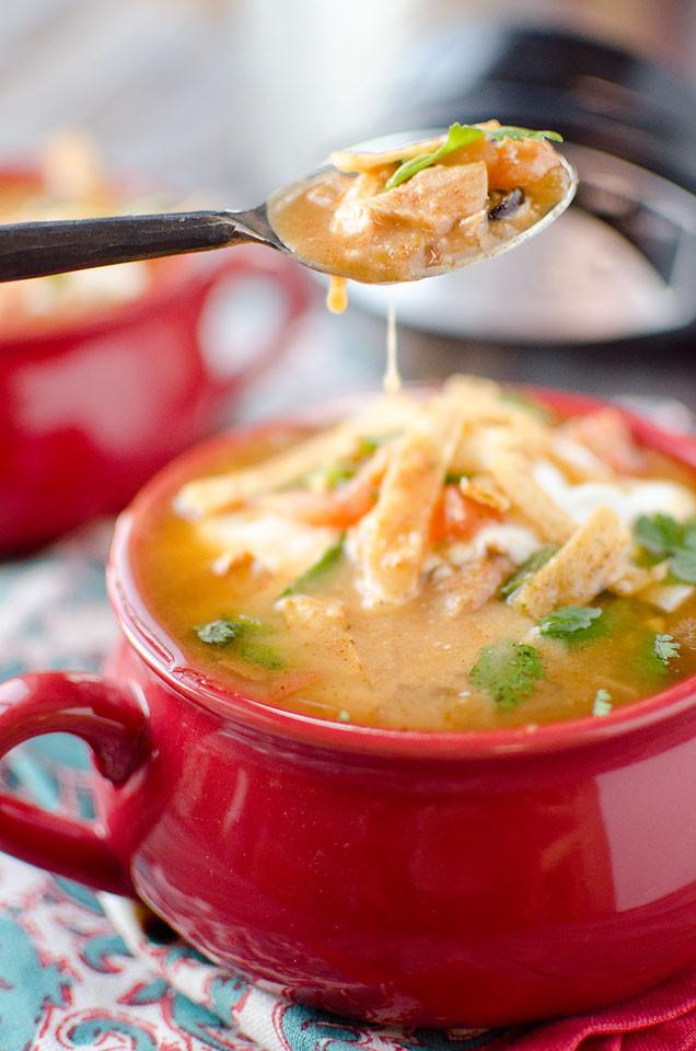 Crockpot Soups Healthy  Crock Pot Chicken Tortilla Soup Page 2 of 2