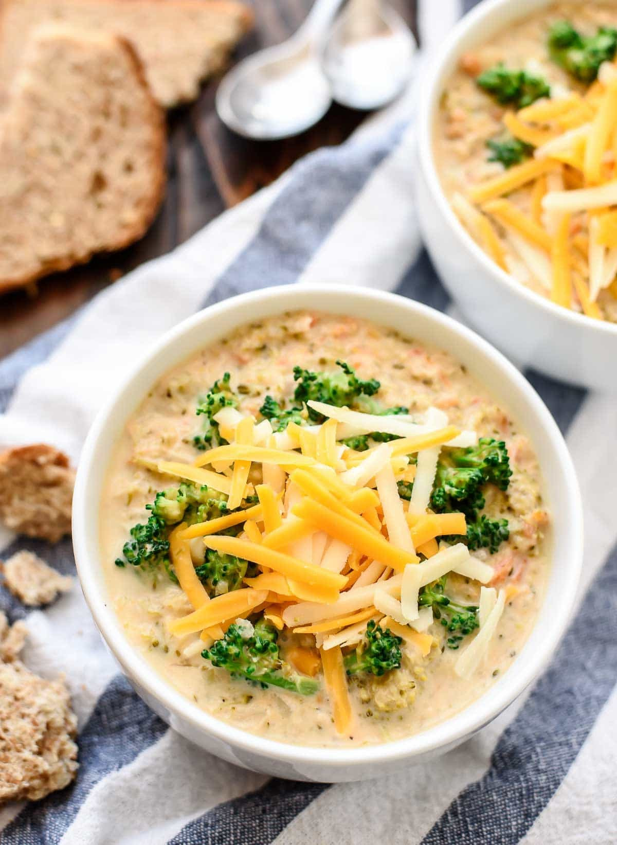 Crockpot Soups Healthy  Slow Cooker Broccoli and Cheese Soup