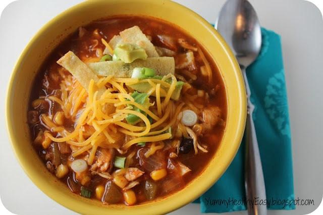 Crockpot Soups Healthy  Healthy Crock Pot Chicken Tortilla Soup Yummy Healthy Easy