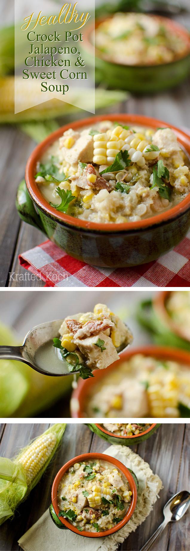 Crockpot Soups Healthy  Healthy Crock Pot Jalapeno Chicken & Sweet Corn Soup