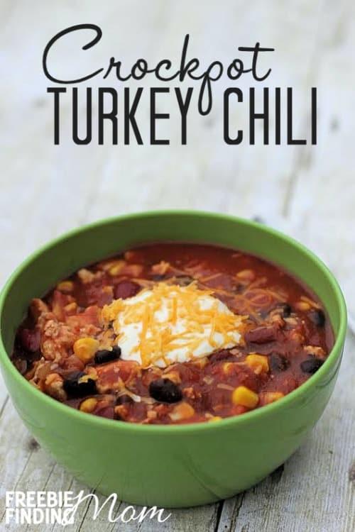 Crockpot Turkey Chili Healthy  Easy Crockpot Turkey Chili Recipe