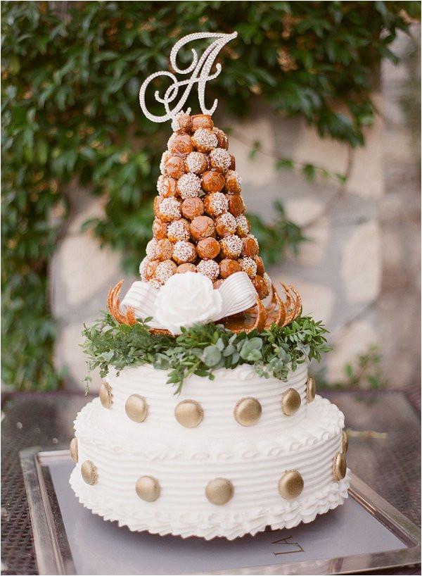 Croquembouche Wedding Cakes  Intimate wedding at Chateau de la Chevre d Or