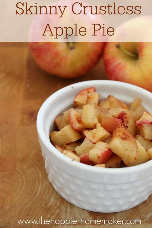 Crustless Apple Pie Healthy  Skinny Apple Pie this crustless apple pie is the perfect
