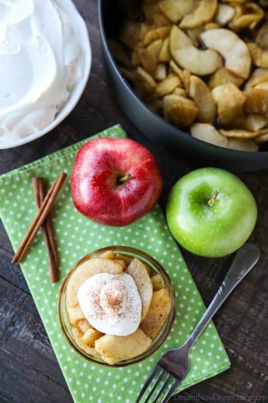 Crustless Apple Pie Healthy  Crustless Apple Pie Video Dessert Now Dinner Later