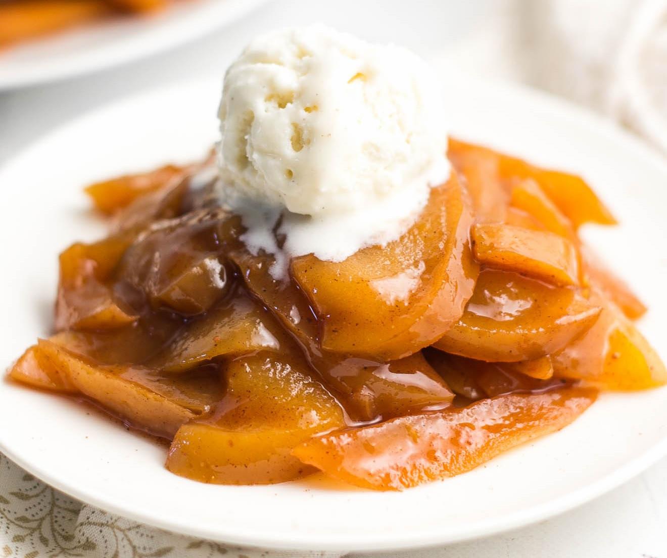 Crustless Apple Pie Healthy  Healthy Slow Cooker Crustless Apple Pie à la Mode Points