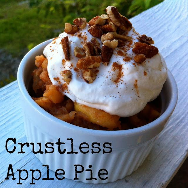 Crustless Apple Pie Healthy  Crustless Apple Pie TheSweetPlantain