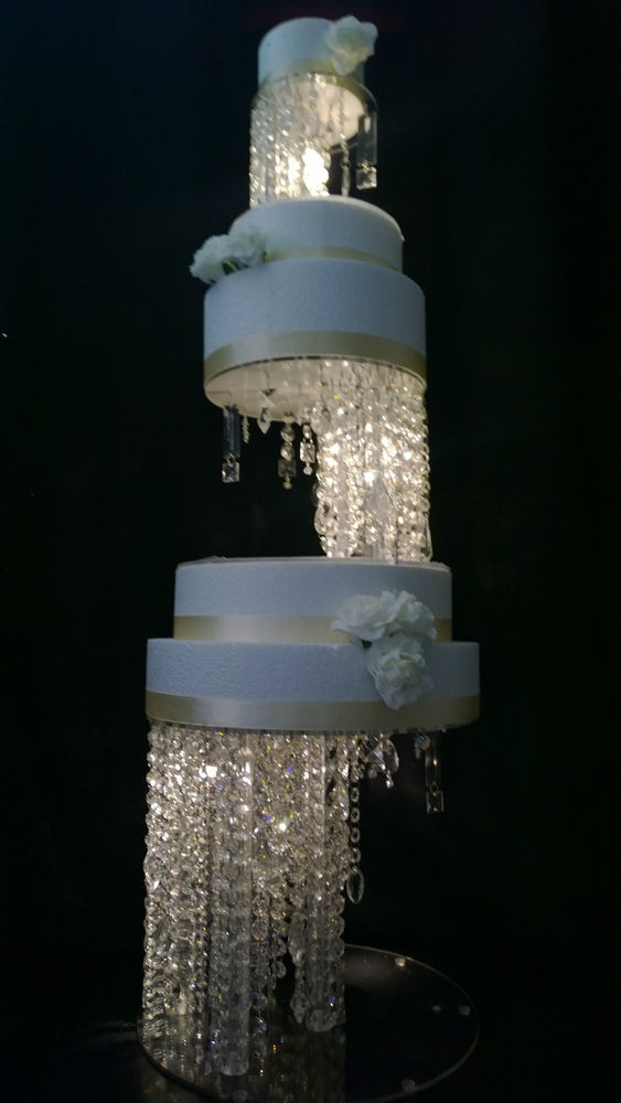 Crystal Cake Stands For Wedding Cakes  Crystal Illusion Design Wedding Cake Stands