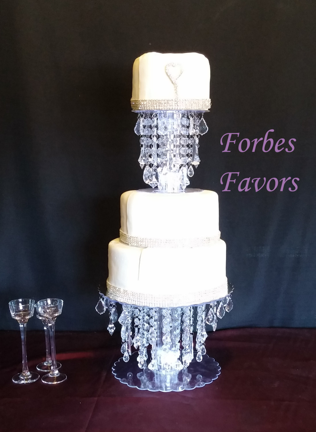 Crystal Cake Stands For Wedding Cakes  Glamorous Ice Crystal Cake Stand Wedding and Special Events