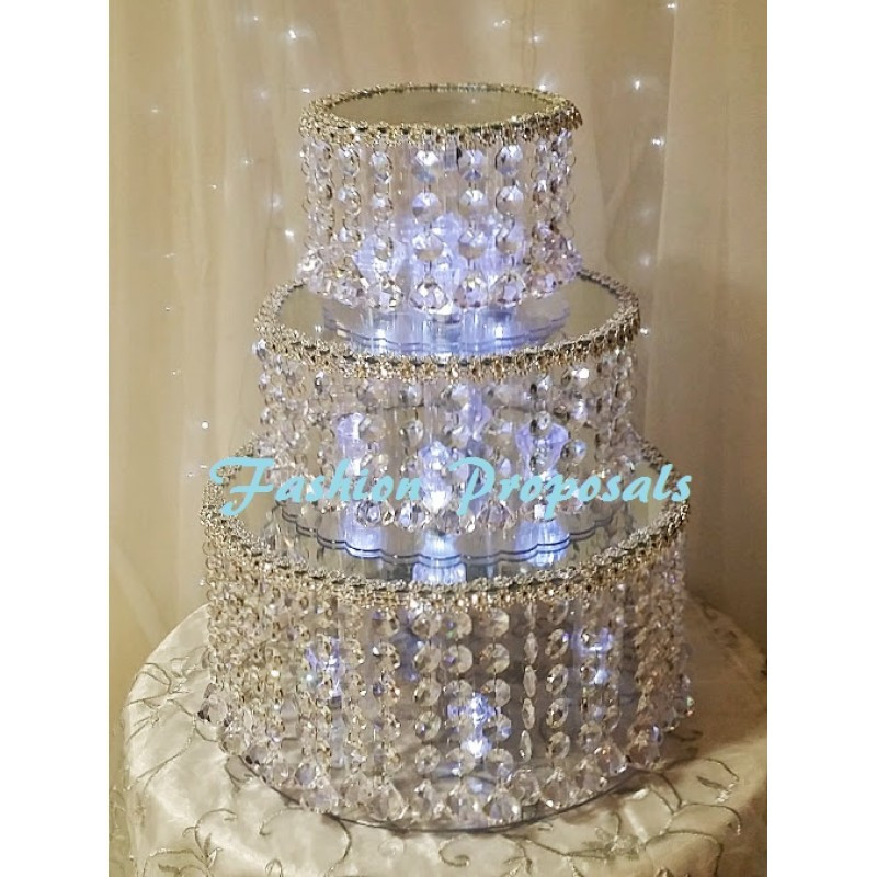 Crystal Cake Stands For Wedding Cakes  SALE Wedding Double tier crystal cake stand double tier