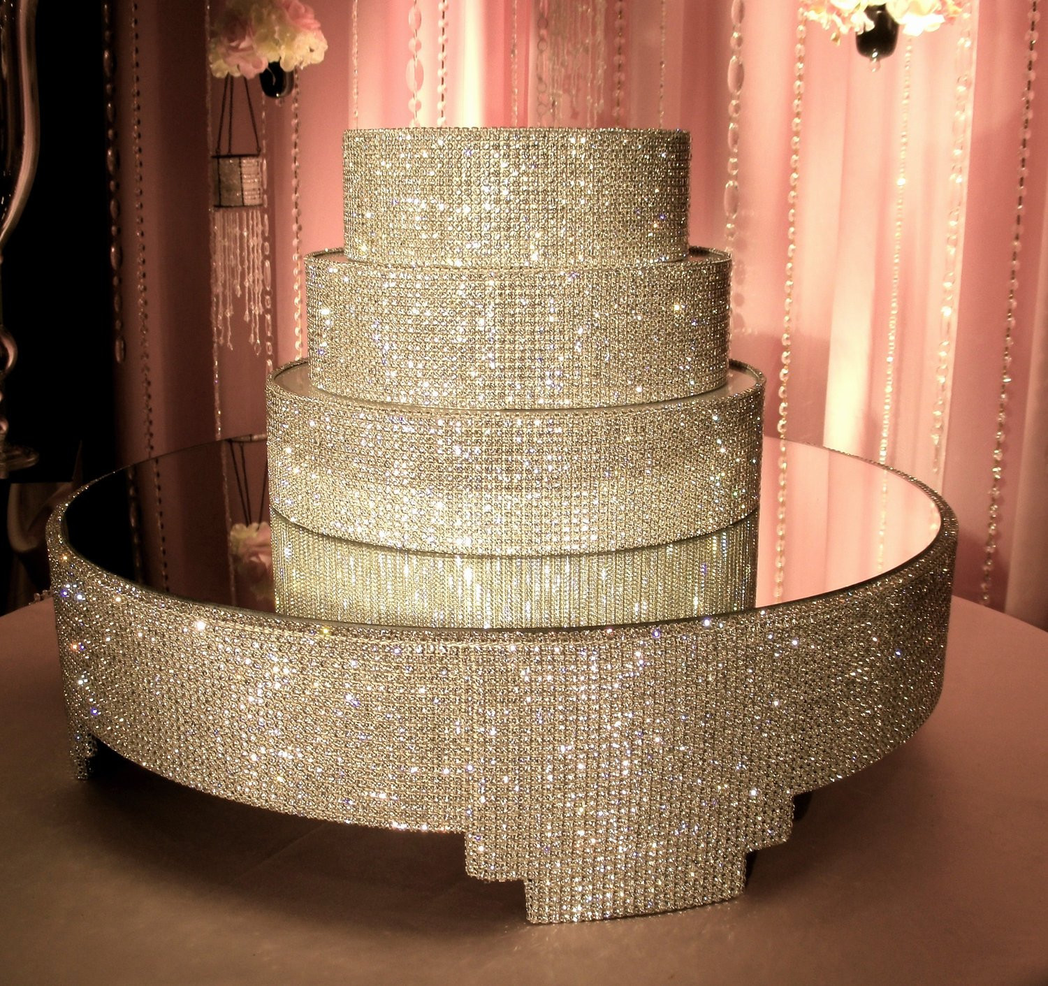 Crystal Cake Stands For Wedding Cakes  Crystal Cake Stand and Separators Package