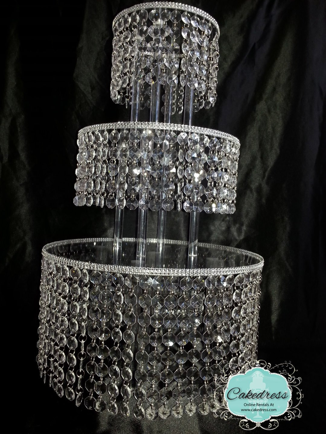 Crystal Cake Stands For Wedding Cakes  Crystal Wedding Cake Stand 5 Tier by CakeDress on Etsy