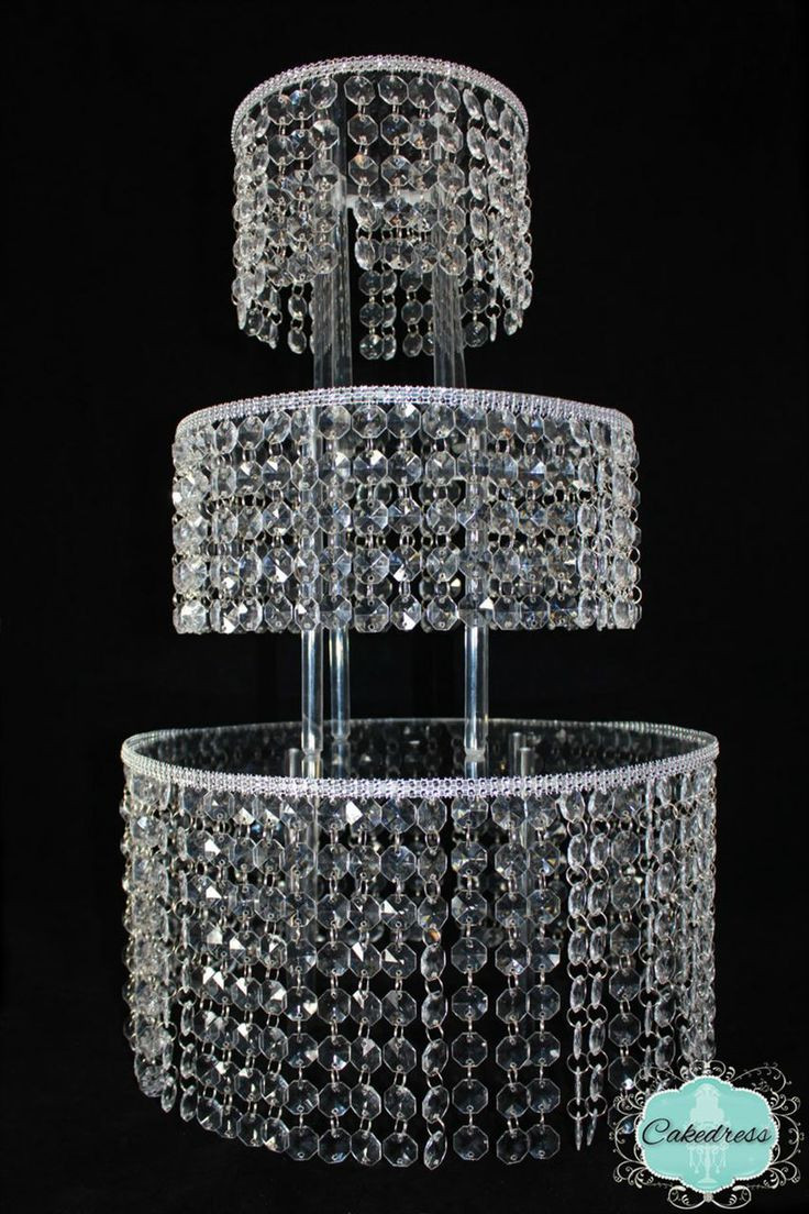 Crystal Cake Stands For Wedding Cakes  3 Tier Round Crystal Wedding Cake Stand
