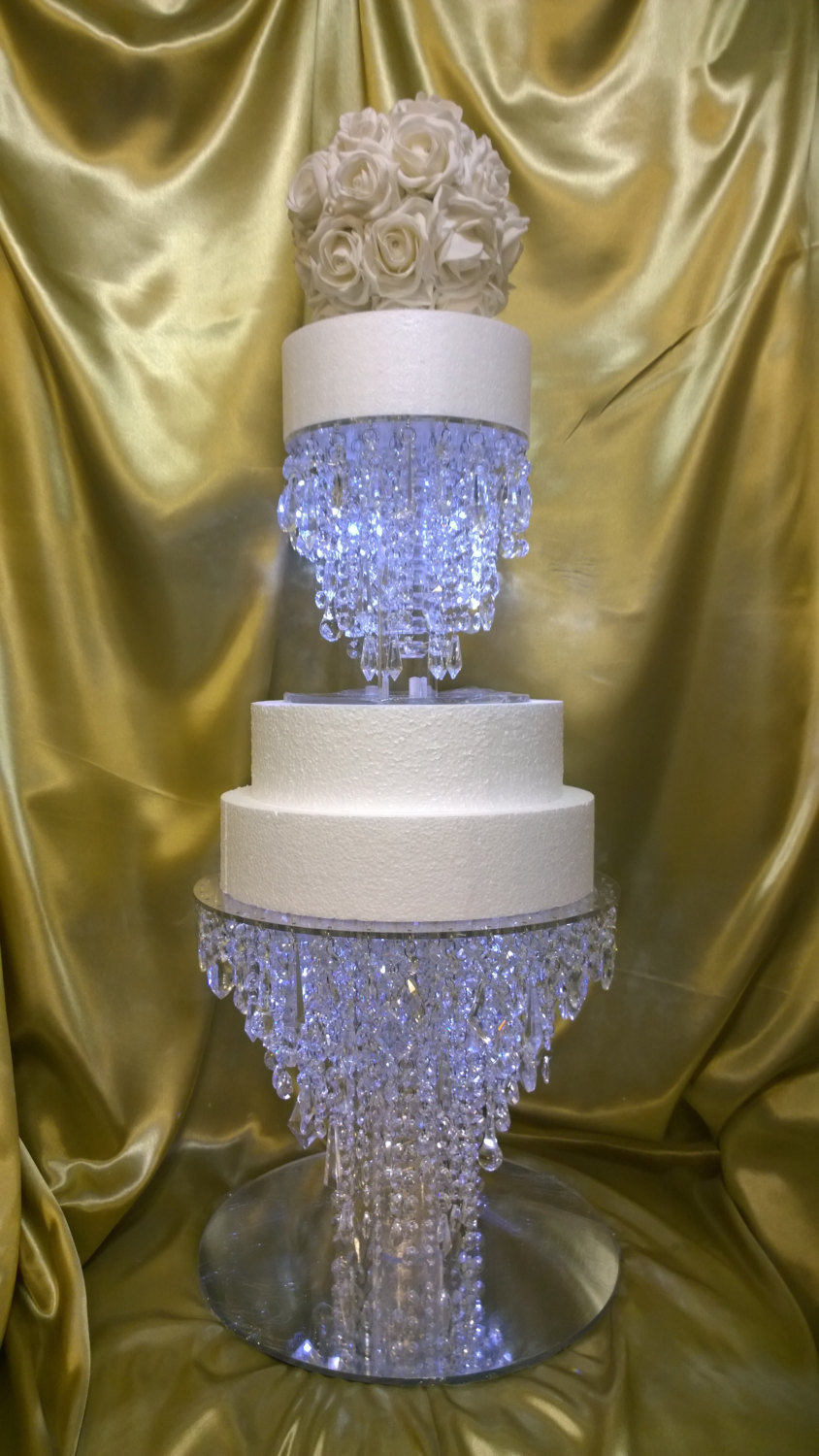 Crystal Cake Stands For Wedding Cakes  The Ice crystal cake stand 2 tier set Glass