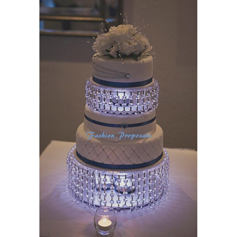 Crystal Cake Stands For Wedding Cakes  Wedding Cake Stand or cake dividers with Crystals