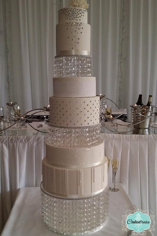 Crystal Cake Stands For Wedding Cakes  Crystal Wedding Cake Stand 2 Tier by CakeDress on Etsy