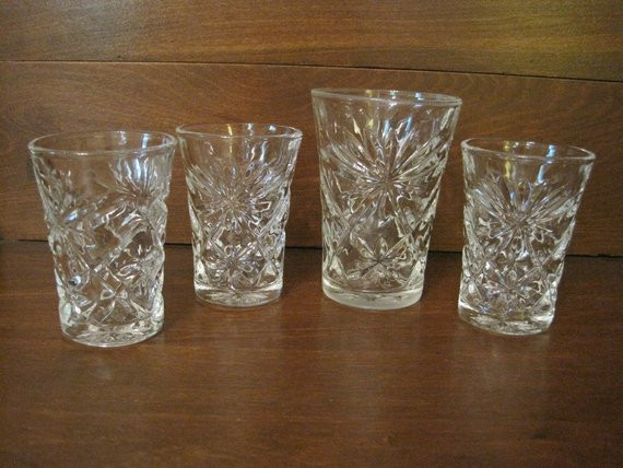Crystal Wedding Oats  Anchor Hocking Early American Prescut Glassware by