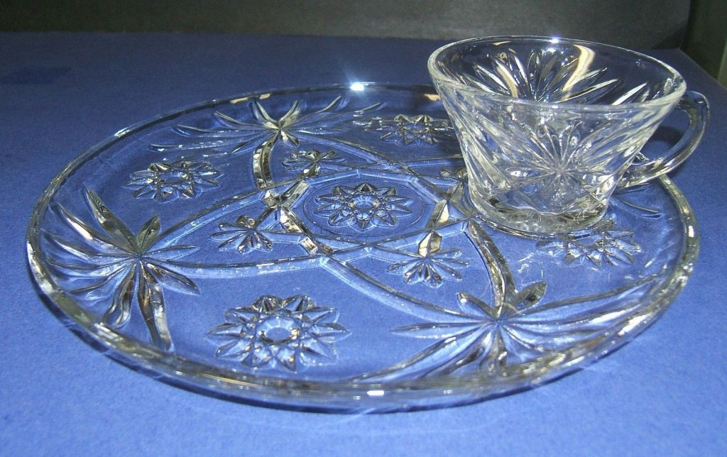 Crystal Wedding Oats  Early American Prescut by Anchor Hocking