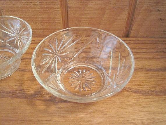 Crystal Wedding Oats  Five Anchor Hocking Early American Prescut 1960 s by