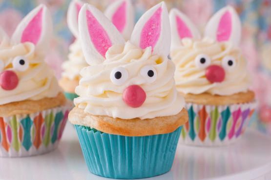 Cupcake Easter Desserts  Easter Bunny Cupcakes Recipe Genius Kitchen